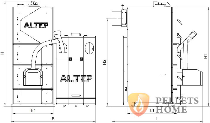 Altep Duo Uni Pellet Plus розміри фото
